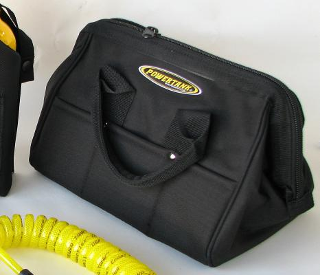 "Carry Bag, 15"" Wide Opening Top, Zippered, Blk. Nylon"