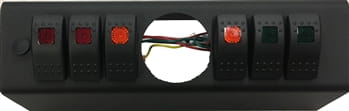 JK Switch Panel 6 Switch W/2-1/16 Inch Diameter Empty Gauge Hole 07-08 Wrangler JK Multi Color sPOD