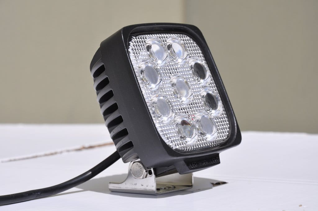 "5"" Square Off road Light 27W Spot 3W LED Black"