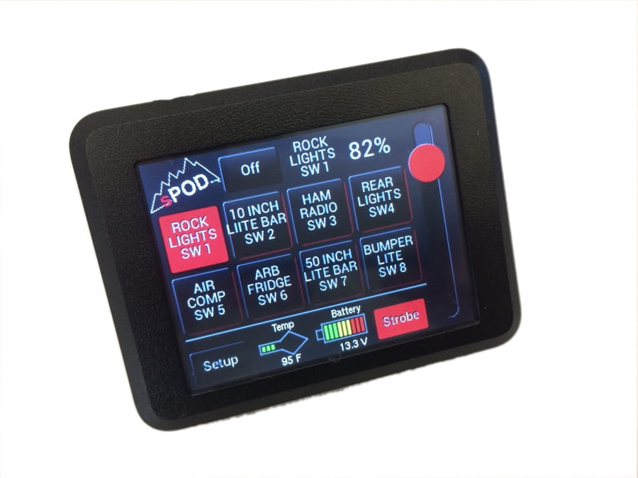 Tacoma Switch Panel 8 Circuit Source SE W/Touchscreen 05-17 Tacoma sPOD