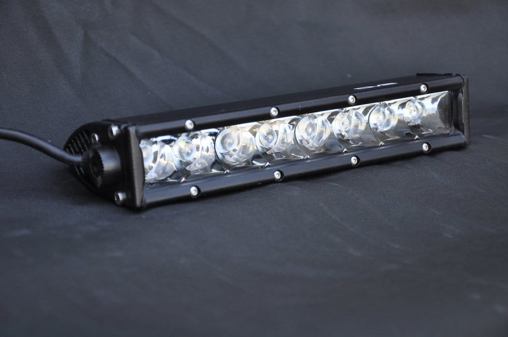"SLIM 10"" Light Bar 50W Spot 5W CREE LED Black"