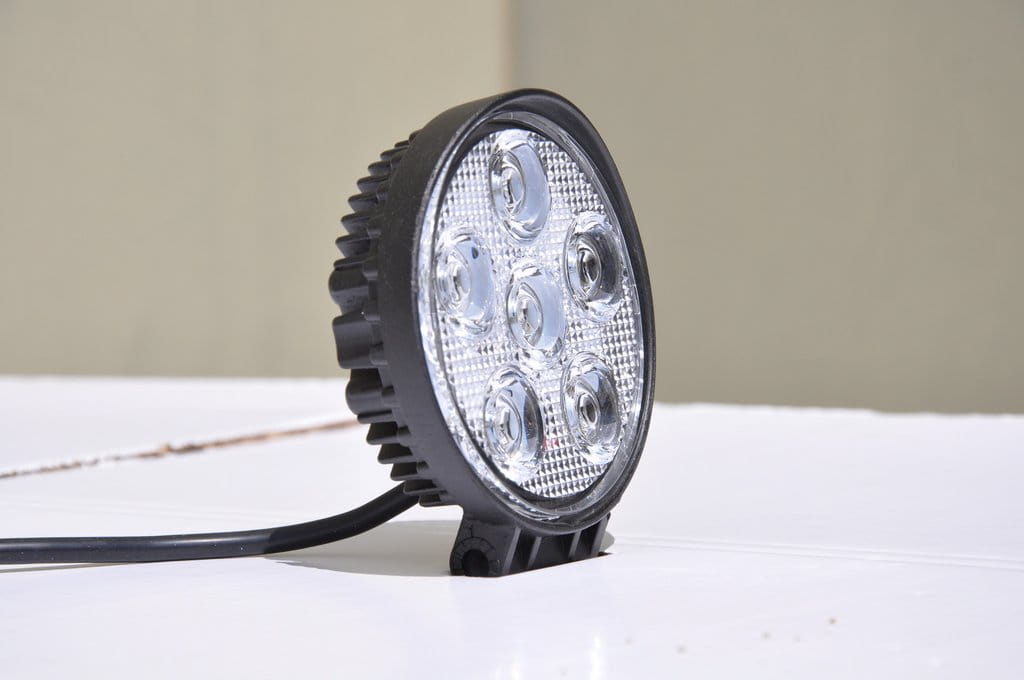 "5"" Round Off Road Light 18W Spot 3W LED Black"