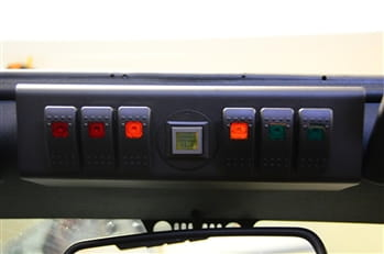 JK Switch Panel 6 Switch W/Genesis Adapter 07-08 Wrangler JK G Screen Not Included Red sPOD