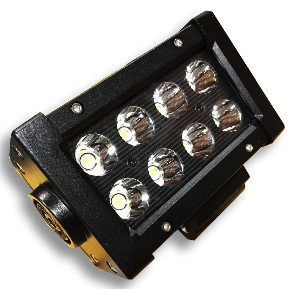 "5"" Light Bar 24W Spot 3W LED Black"