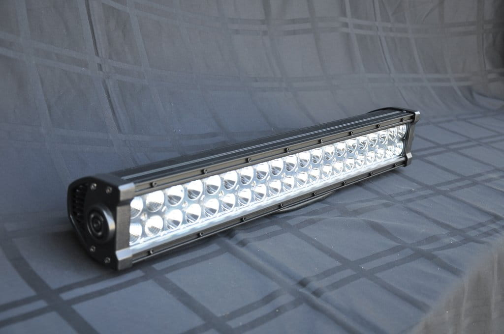 "20"" Light Bar Dual White/Amber 120W Flood/Spot 3W LED Chrome"