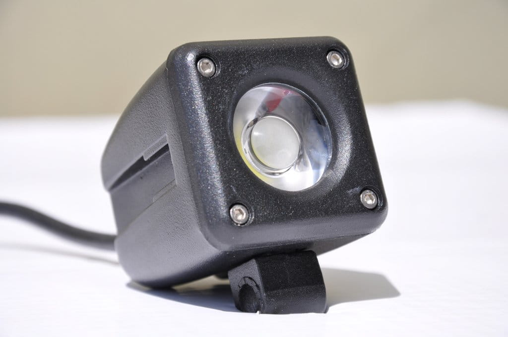 "2"" Square Off Road Light 10W Spot 10W LED Black"