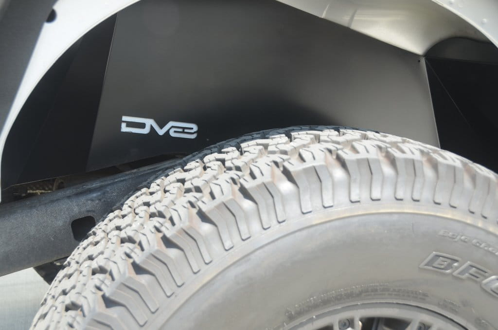 DV8 Aluminum Inner Fender Rear Black Jeep JK
